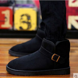 Mens Stylish Winter Faux Suede Snow Warm Boots
