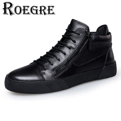 Mens Cool Casual Black High Top Casual Sneakers