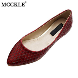 MCCKLE Hot Sale Women Casual Flat Shoes Ladies Fashion Office Comfort Flat Pointed Toe Shoes Women 2017 Spring Soft Loafers