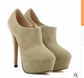 Womens Cute Platform Pump Stylish Ankle Bootie Heels