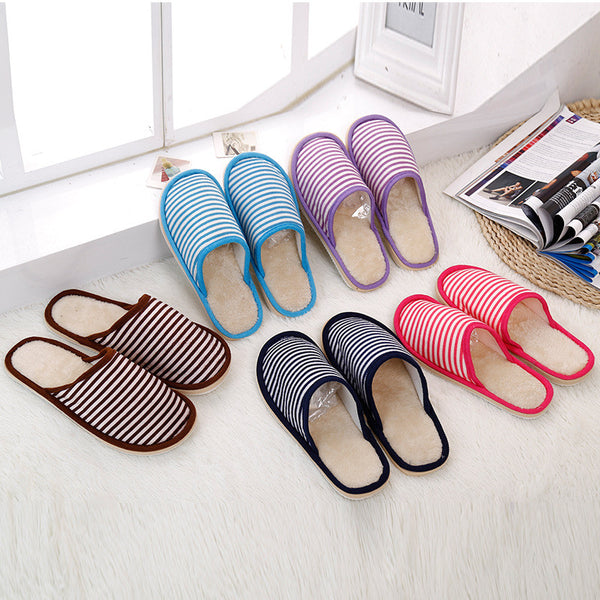Mens Cool Simple Stripe Casual Slip On Slippers