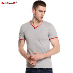 Mens Cool T-Shirt V Neck Slim Fit Tee