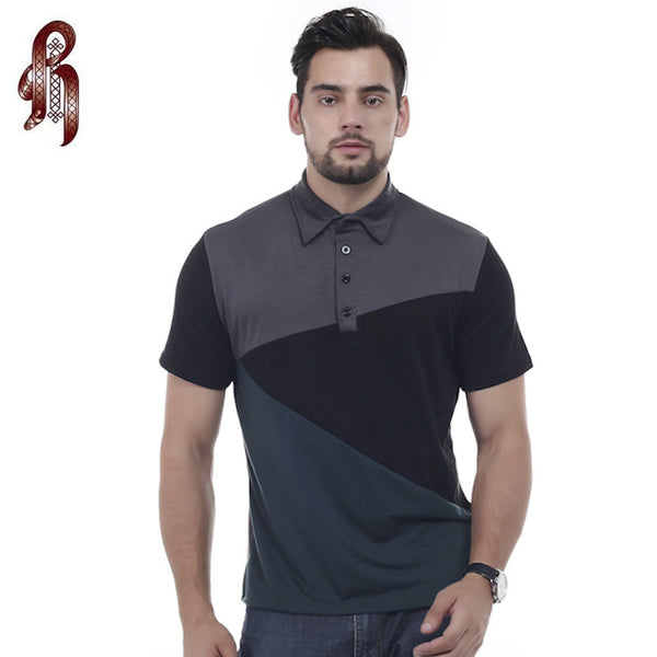 Mens Urban Pattern Design Slim Fit Polo