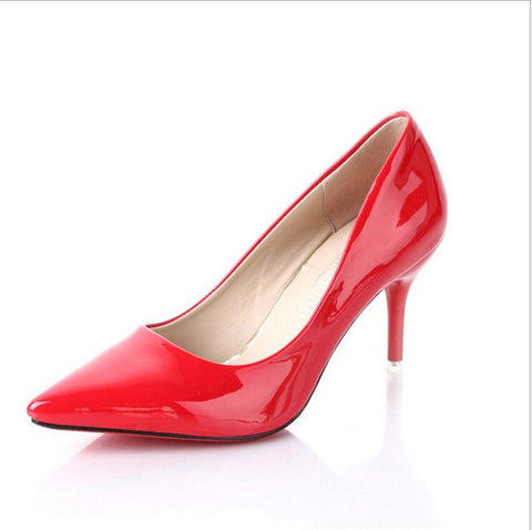 New listing hot sales fashion brand sexy  women High heels women shoes Pumps height 8cm 1703