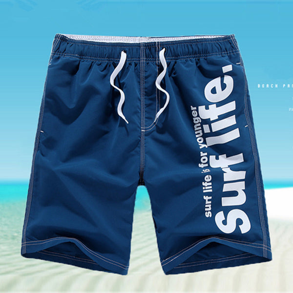 2017 Casual Men Shorts Beach Board Shorts Men Quick Drying Summer Solid Polyester New Brand Clothing Boardshorts Plus size M-5XL