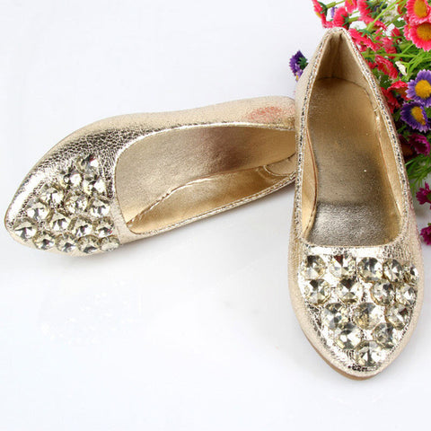 7a44ae71253f6d New Rhinestone Women Flats Shoes Golden Silver Summer Style Ladies Shoes  Female Loafers Fashion Shoes Woman