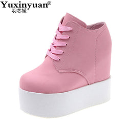 Wedge high heels zapatos mujer Platform Heels ladies Canvas Shoes chaussure femme women school valentine zapatos Casual Shoes