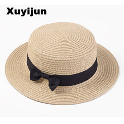 Womens Stylish Sun Straw Beach Panama Hat