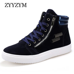 Mens Cool Retro High Top Lace Up Zip Sneakers