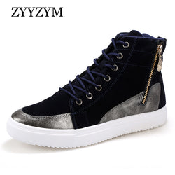 Mens Trendy High Top Lace Up Sneakers