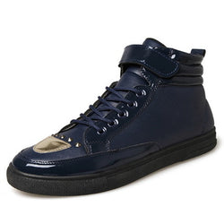 Mens Trendy High Top Ankle Strap Casual Sneakers