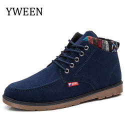 YWEEN Hot Sales 2018 Winter Men Boots New Top Fashion Lace-up Casual Ankle Boot Waterproof Plush Cotton Man Botas Shoe