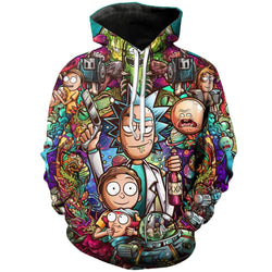 9aa4cf45210 Rick And Morty Hoodies 3D Unisex Sweatshirt Men Brand Hoodie Comic Casual  Tracksuit Fashion Hooded Pullover