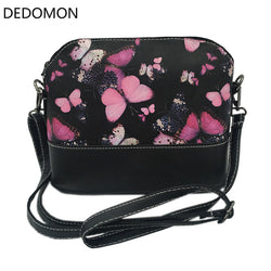 2017 Luxury Brand Lady Shoulder Bag Messenger Shell Shape Crossbody Handbag Waterproof Women Bag With Butterfly Dragonfly Floral