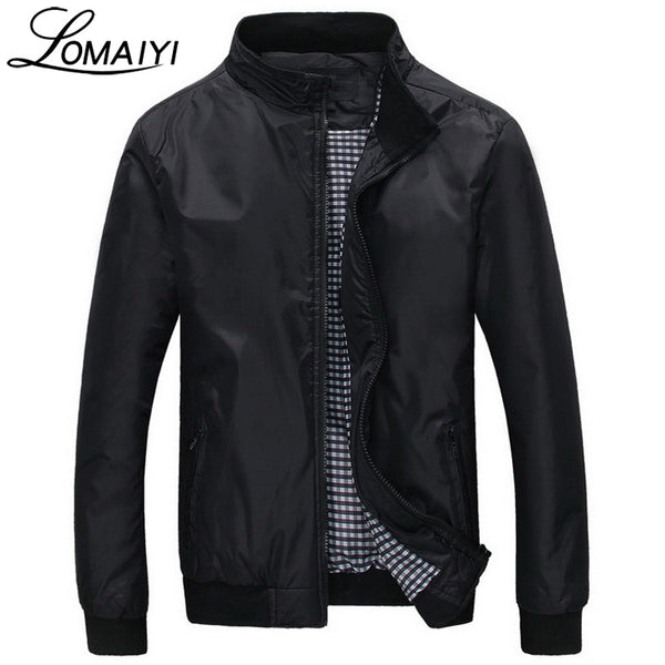 LOMAIYI Fashion Male Jacket Coat Men 2018 Spring Business Casual Clothes Summer Thin Windbreaker Mens Black Bomber Jackets,BM041