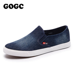 GOGC 2017 New Arrival Slipony Men Fashion Men Sneakers Flats Casual Shoes Denim Canvas Shoes Nice Comfortable Men Shoes Loafers