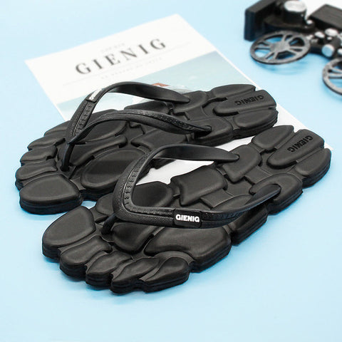 07ea4e9b838d5 GieniG 2018 men slippers summer outdoor leisure flip flops anti slip clip  foot flat comfortable sandals