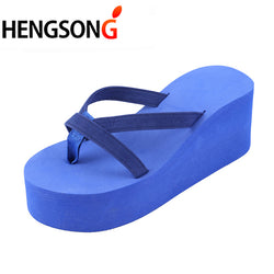 15de02034fb HENGSONG 2018 Summer Sandals Wedges Women Slip Flip Flops Beach Sandals  Shoes Fashion Casual Sandals Female