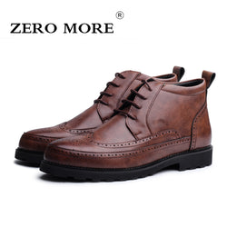 540f0c2b5b429 ZERO MORE Brand Autumn Winter Men Shoes Boots Men Casual Fashion Microfiber  High-Cut Lace