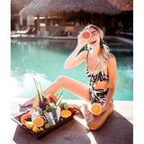 High Waist Swimsuit New Sexy Print Bikinis Women Swimwear Push Up Bathing Suit Swim Summer Beach Wear Bikini