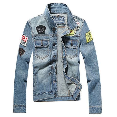 b52fad15c2b Men s Denim Jacket high quality fashion Jeans Jackets Slim fit casual  streetwear Vintage Mens jean clothing
