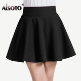 Winter and Summer style Brand women skirt elastic faldas ladies midi skirts Sexy Girl mini short skirts saia feminina gratis