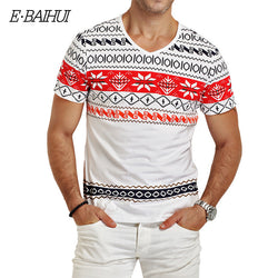 Mens Casual Print Design T-Shirt Fashion Tee