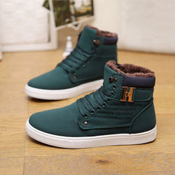 Mens Cool Casual Cotton Ankle Winter Boots