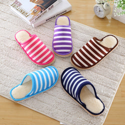 Mens Casual Stylish Stripe House Slippers