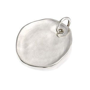 Round Shaped Solid 925 Sterling Silver Charm for Your DIY Necklace Creations