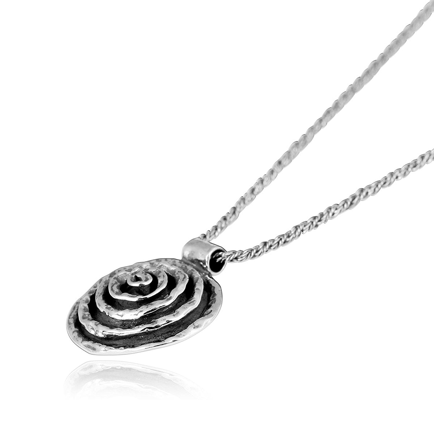 STYLISH STERLING SILVER PENDANT SPIRAL SOLID 925 NEW