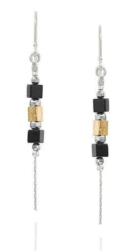 Black Onyx Dangle Earrings Chic & Stylish Women's Jewelry