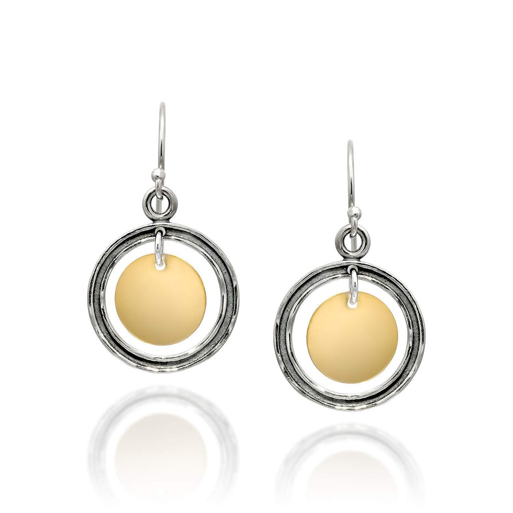 Graduated Circles dangle earrings
