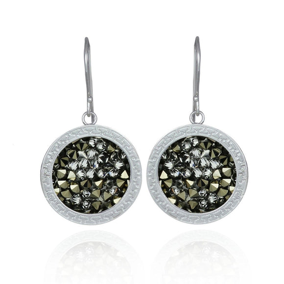 Sparkling Swarovski Pavé Crystal Rock Cluster Earrings for Women