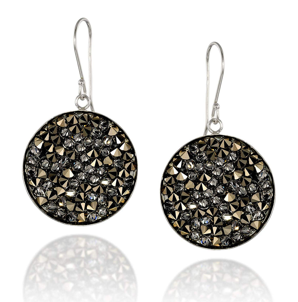 Swarovski Metallic Light Gold Pavé Crystal Rock Cluster Earrings