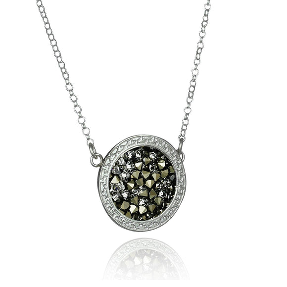 Swarovski Pavé Crystal Rock Pendant Necklace for Women, 18