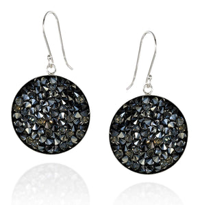 Pavé Crystal Rock Cluster Earrings in 925 Sterling Silver Bezel Made with Original Swarovski Crystals