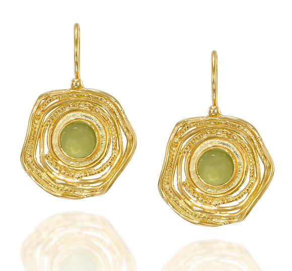 Striking Gold Earrings with Unique Textured Free Form Design and Secure Backs