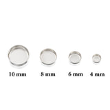 Round Setting 925 Sterling Silver 6 mm Bezel Cup Findings for Rings Pendants Charms Earrings, 6 or 12 Pcs