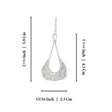 Teardrop Shape 925 Sterling Silver Dangle Earrings with Unique Texture Fashionable Women's Jewelry