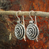 Spiral Design Solid 925 Sterling Silver Round Swirl Earrings with Secure Backs Wire and Hook Closure