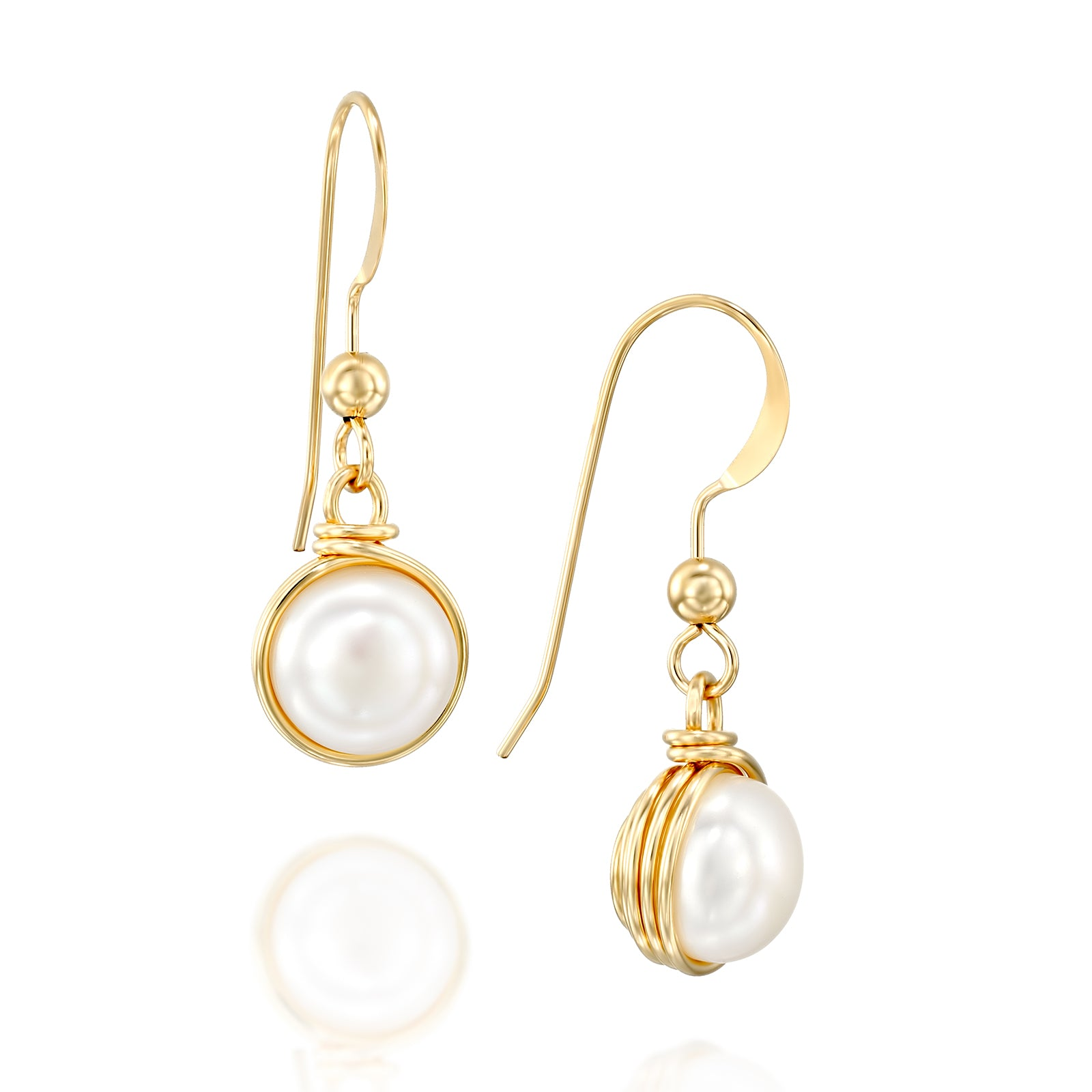 14k Gold Filled Pearl Earrings Wedding Bridal Jewelry Bridesmaid