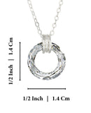 "Choice of Swarovski Crystal Cosmic Ring Pendant Necklace, 18"" + 4"" Extender"