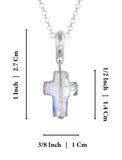 "Swarovski AB Crystal Cross Pendant Necklace, 18""+ 4"" Extender"