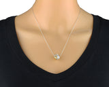 "Women's Silver & Gold Love Knot Pendant Necklace, 18""+4"" Extender"