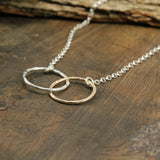 Handmade Women's Jewelry Silver & Gold Eternity Infinity Necklace, 18""