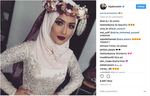 Saj-Neha-White-Hijab-Dark-Makeup
