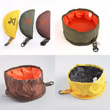 Folding pet outdoor water food bowl for travel - furry-tale