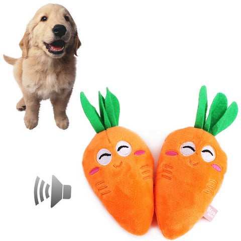 Smily and squeaky carrot toy - furry-tale
