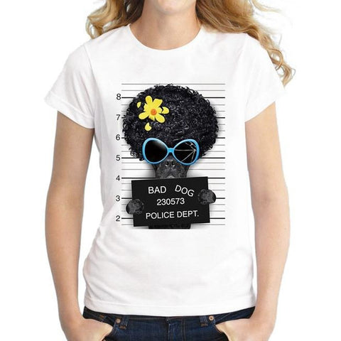Arrested dog T- shirt Woman